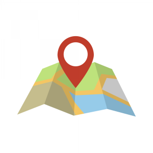 Vector of a Google-like location icon. Contractor 20/20.